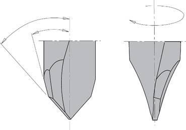 El afilado del metal duro asegura un acabado perfecto de 0.4μ/mm