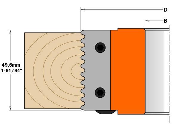 cabezal portacuchillas para realizar  juntas permite realizar una de las juntas resistentes en todos los tipos de madera y sus derivados