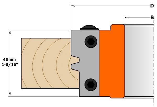 cabezal portacuchillas es la capacidad de fabricar sin errores una junta paralela perfecta.Ideal para la fabricación de paneles, puertas y piezas para muebles. Ponga la fresa en el centro de la madera