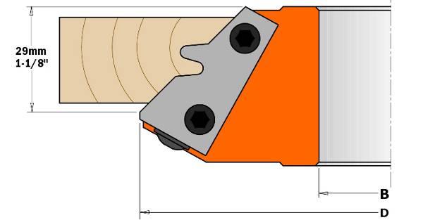 Portacuchillas de cuerpo de duraluminio adaptado para la unión transversal y longitudinal en maderas blandas,duras o dmf,ideal para juntas para marcos