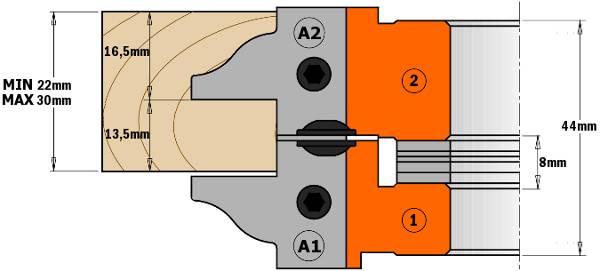 Cuerpo de aleación especial de aluminio de alta resistencia a la tracción y la flexión (cabezal 1 y 2). -Cuerpo de acero especial de alta resistencia (cabezal 3).