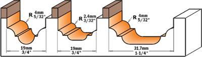 Fresa para perfilar con placa soldada de carburo de tungsteno de alta resistencia,para usar en maderas o sus derivados
