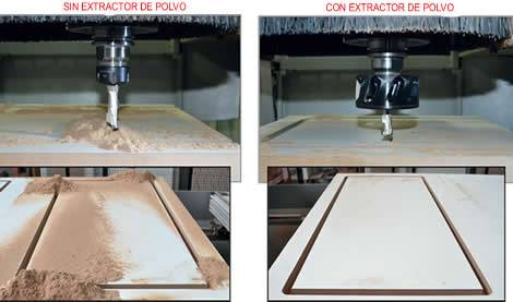 Ejemplos de trabajo con el extractor de polvo Kinetic de la marca cmt