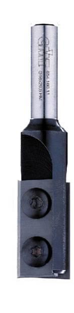 El corte frontal de la cuchilla tiene un afilado de3 grados para poder entrar taladrando