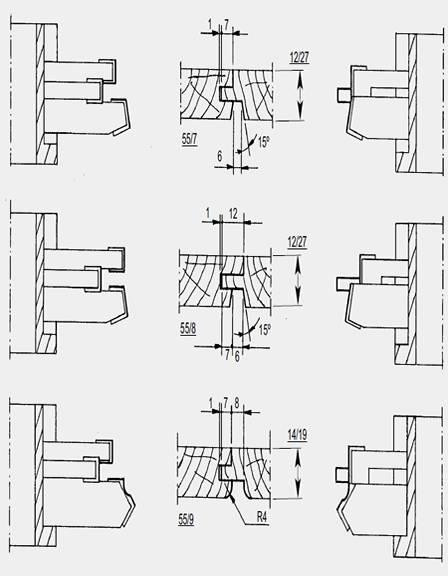 Portacuchillas montados sobre manguitos para realizar machiembrados