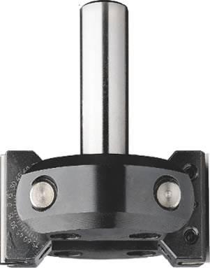 Cabezal con dos cortes, que pueden inclinarse de 0º a 45º por arriba y de 0º a 90º por abajo, mediante ajuste de 7,5º grados,y fijacion mecanica.