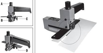 La herramienta ha sido diseñada para cortar laminados, madera chapada y otros materiales