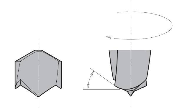 Brocas para agujero ciego con afilado XTREME de 57,5 largo total,giro a derecha