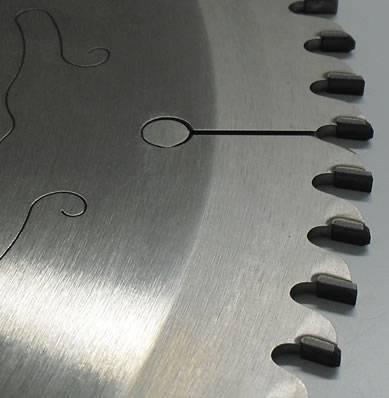 Disco con placas de diamante poliscristalino para escuadradoras