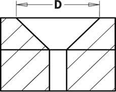 Avellanador idealpara realizar taladros ciegos con avellanados de 90° para introducir tornillos de cabeza plana a ras de la superficie
