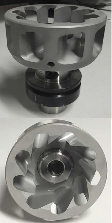 Turbitech extractor de polvo mas porta herramientas a utilizar en centros de mecanizado