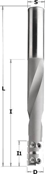 Fresa de acero especial pesante, con el que soporta grandes esfuerzos y máximo avance,para cajeados de cerraduras