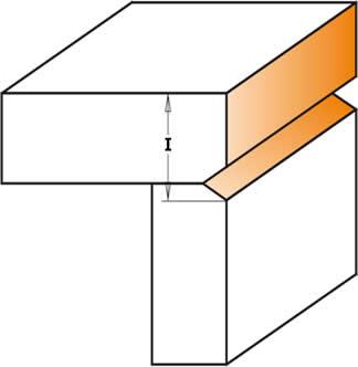 fresa para recortar en forma de V que ha sido diseñada especialmente para la terminación de bastidores