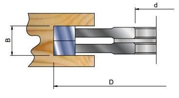 Fresas para ranurar extensibles Z=4 + V=4