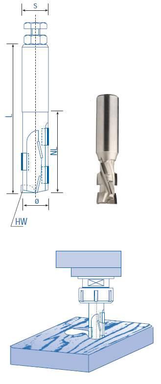 Fresa PCD para fresar paneles de aglomerado revestidos,trabajar a 10 m/minuto
