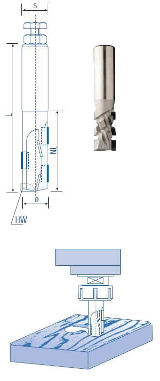 Fresas de diamante para el seccionado de paneles revestidos o sin revestir,paneles HPL,MDF,laminados y melanina