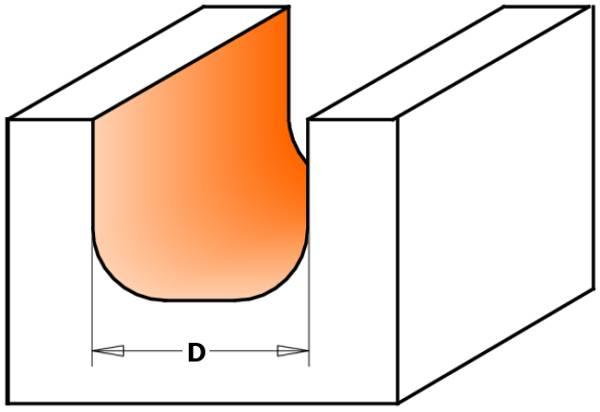 Los angulos redondeados obtienen un radio interno,mientras los lados y la parte baja del corte crean una superficie plana y lisa