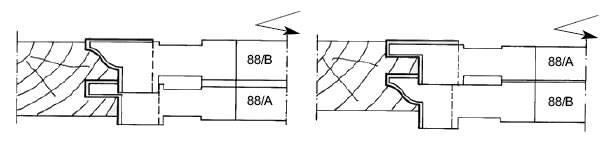 herramientas que realizan además el refrentado de la madera, tanto en la moldura como en la contramoldura